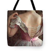 Victorian Woman Undressing Tote Bag