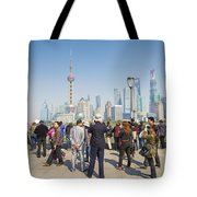 View Of Pudong In Shanghai China Tote Bag