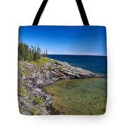 View Of Rock Harbor And Lake Superior Isle Royale National Park Tote Bag