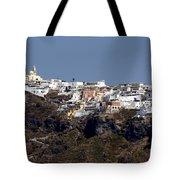 Views Of Santorini Greece Tote Bag