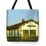 Villisca Train Depot Tote Bag