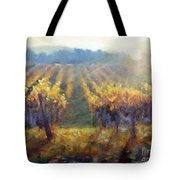 Vineyard Sunset Tote Bag