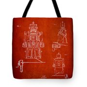 Vintage Toy Robot Patent Drawing From 1955 Tote Bag