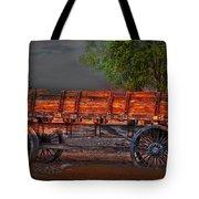 Wagons East Tote Bag by Gunter Nezhoda
