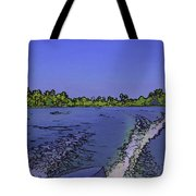 Wake From The Wash Of An Outboard Motor Tote Bag