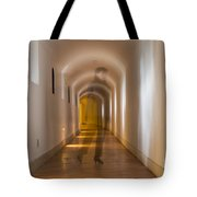 Walking In A Tunnel Tote Bag