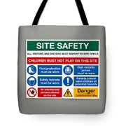 Warning Sign Tote Bag by Tom Gowanlock
