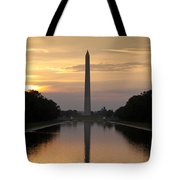 Washington Monument Sunrise Tote Bag