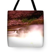 Water Over Rock  Tote Bag