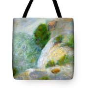 Waterfall In The Mist Tote Bag