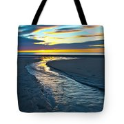 Wells Beach Maine Sunrise Tote Bag