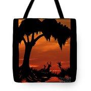 Wetland Wildlife - Sunset Sky Tote Bag