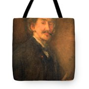 Whistler's Brown And Gold Self Portrait Tote Bag