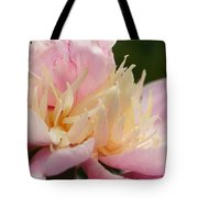 White And Pink Peony Tote Bag