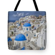 White Buildings With Steep Slope Tote Bag