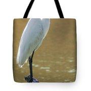 Magnolia White Heron Tote Bag
