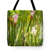 White-topped Pitcher Plant Tote Bag