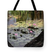 Wild Water Lilies In The River Tote Bag