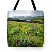 Wildflowers In A Field, Columbia River Tote Bag