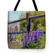 Wildflowers On The Fence Tote Bag