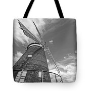 Windmill In The Sky In Black And White Tote Bag