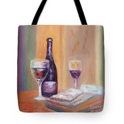 Wine And Blue Cheese Tote Bag