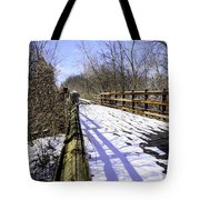 Winter On Macomb Orchard Trail Tote Bag