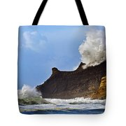 Winter Storm At Cape Kiwanda - Oregon Tote Bag