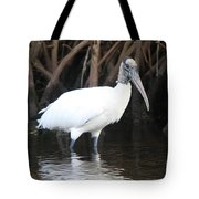Wood Stork In The Swamp Tote Bag