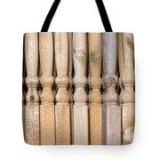 Wooden Posts Tote Bag