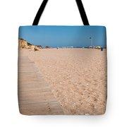 Wooden Walkway On Beach Tote Bag
