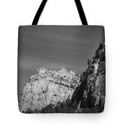 Wyoming Mountain Peaks Tote Bag