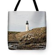 Yaquina Head Lighthouse - Pov 1 Tote Bag