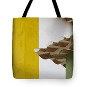 Yellow And Green Lines To The Roofs Tote Bag
