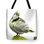 Yellow Pigeon Pop Art 5516 - Fs - Bb -  Modern Animal Artist Jam Tote Bag