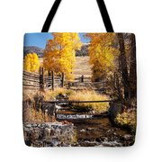 Yellowstone Institute In Lamar Valley In Yellowstone National Park Tote Bag