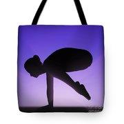 Yoga Crane Pose Tote Bag