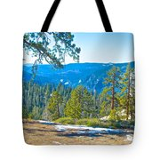 Yosemite Valley Mountainside From Sentinel Dome Trail In Yosemite Np-ca Tote Bag