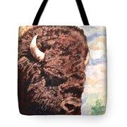 Young Bull At Yellowstone Tote Bag