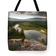 Yukon Canada Taiga Wilderness And Mcquesten River Tote Bag