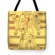 Zodiac Man Medical Astrology Tote Bag by Science Source
