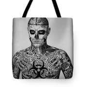 Zombie Boy Rick Genest Tote Bag by Carlos Velasquez Art