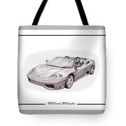 Ferrari 360 Modena Spyder Tote Bag