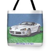 2005 Dodge V-10 Viper Tote Bag