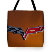 2007 Chevrolet Corvette Indy Pace Car Emblem Tote Bag