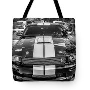 2007 Ford Mustang Shelby Gt500 Painted Bw  Tote Bag