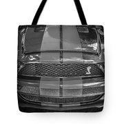 2007 Ford Shelby Gt 500 Mustang Bw Tote Bag
