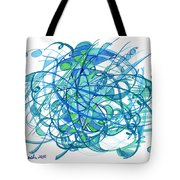 2010 Abstract Drawing 30 Tote Bag