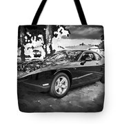 2010 Plymouth Superbird Bw Tote Bag