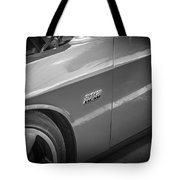 2011 Dodge Challenger Srt8 Hemi Bw  Tote Bag
